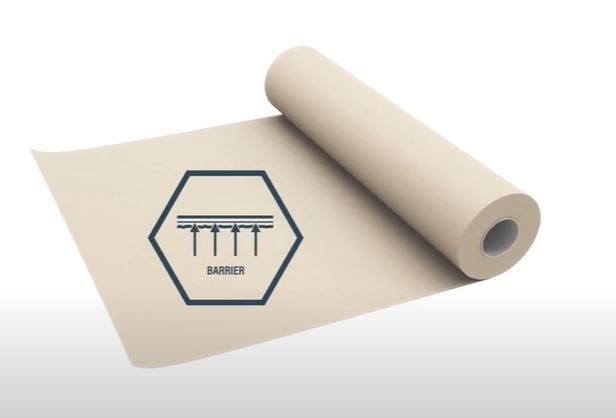 Roll of paper with a logo super imposed on top