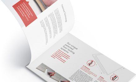 An image of an open brochure