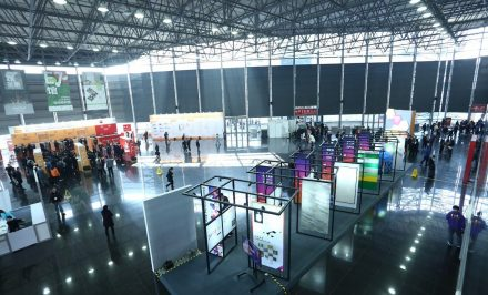 Event stalls in a hanger